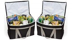 Defendir Insulated Food Delivery Bags (2-Pack) Hot and Cold Travel Storage Totes for Delivery Dr ...