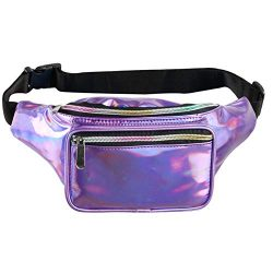 Fotociti Holographic Fanny Pack– Fashion Rave Waist Bag with Adjustable Belt for Women and Men ( ...
