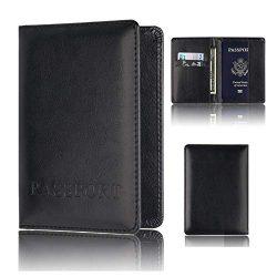 ❤️ Sunbona Card Holder Wallet Leather Passport Holder Protector Wallet Business Ca ...