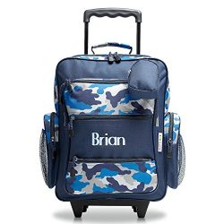 Personalized Rolling Luggage for Kids – Blue Camo Design, 5″ x 12″ x 20″H, By  ...