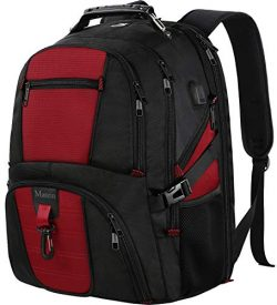 Extra Large backpack, TSA Friendly Travel Laptop Backpack with USB Charging Port for Women and M ...