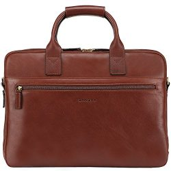 Banuce Vintage Full Grain Italian Leather Briefcase for Men Business Attache Case 14″ Lapt ...
