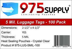975 Supply – Luggage Tag Laminating Pouches – 2-1/2″ x 4-1/4″ – 5  ...