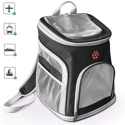 Pet Carrier Backpack Soft-Sided Portable Dog Carrier Backpack Comfort for Small Dogs & Cats  ...