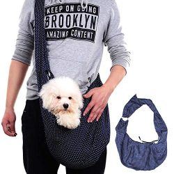 Lorchwise Fashion Pet Messenger Bag Sling Carrier Portable Soft Sided Carrier for Outdoor Activi ...
