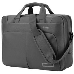 BRINCH Laptop Bag 15.6 Inch Water Resistant Nylon Messenger Bag Travel Briefcase Laptop Shoulder ...