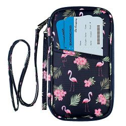 RFID Family Passport Wallet Holder Waterproof, Travel Document Organizer Credit Card Clutch Bag  ...