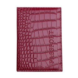 Kimloog Clearance!PU Leather Passport Cover Holder RFID Blocking Men Women Travel Wallets (Wine)