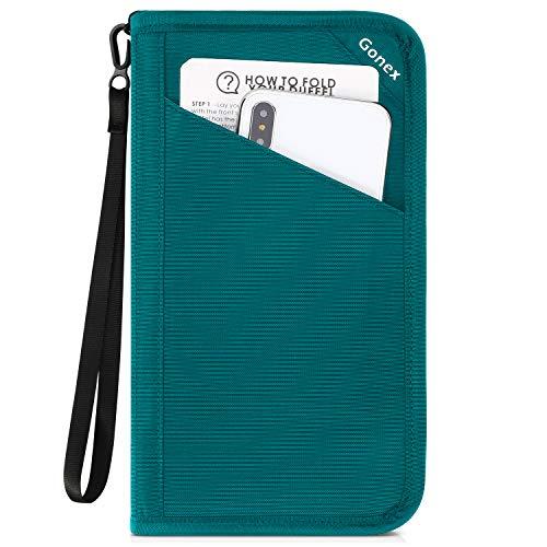 Gonex Passport holder RFID Blocking Travel Wallet with Removable Wristlet Strap for Men& Wom ...
