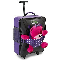 Cabin Max Bear Bag Kids Luggage with Wheels for Girls and Boys Backpack With Wheels – 20x1 ...