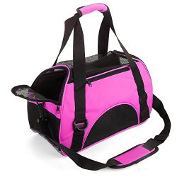 MisteSun Cat Carrier,Soft-Sided Pet Travel Carrier for Small Cats,Dogs Puppy Comfort Portable Fo ...