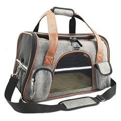 Airline Approved Pet Carrier Soft Sided for Cats and Small Dogs Portable Cozy Travel Pet Bag Lig ...