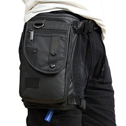 Hebetag Waterproof Oxford Drop Leg Bag for Men Motorcycle Riding Thigh Waist Fanny Pack Mens Mul ...