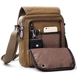 XINCADA Mens Bag Messenger Bag Canvas Shoulder Bags Travel Bag Man Purse Crossbody Bags for Work ...