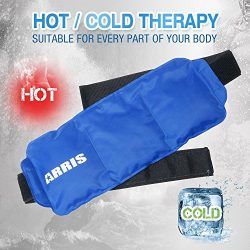 ARRIS Ice Packs for Waist Injuries Reusable Small Hot Cold Therapy Gel Ice Pack with Adjustable  ...