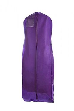Bags for Less Purple Wedding Gown Travel & Storage Garment Bag Soft, Breathable, Durable, Ri ...