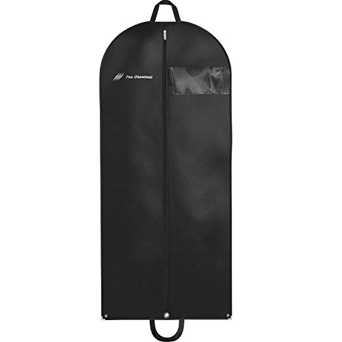 "Garment Bag for Travel and Storage 54"" x 24"" – Black Suit Dress Carry On Cover"