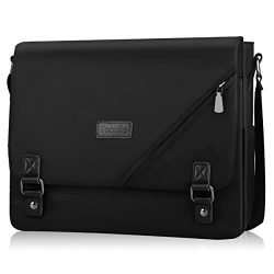 Messenger Bag for Men Laptop Bag 15.6 Inch, Lightweight Fashion Water Resistant Computer Satchel ...