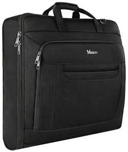 Carry On Garment Bag, Travel Garment Bags for Business Trips With Shoulder Strap, Mancro Waterpr ...