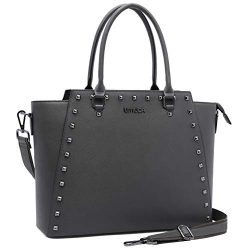 Laptop Bag for Women,13-15.6 Inch Padded Laptop Tote Bag,Studded Design,Multi Pockets Computer B ...