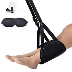 Airplane Footrest Hammock, Portable Adjustable Height Lightweight Travel Accessory – Memor ...