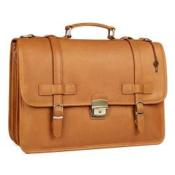 Augus Leather Briefcases Messenger for Men Waterproof Business Travel Duffle bag 14 inch Laptop  ...