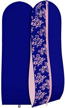 "Women's Formal Gown Garment Bag -Long Wedding Prom Dresses – 72""x24"", 10"" Gusset"