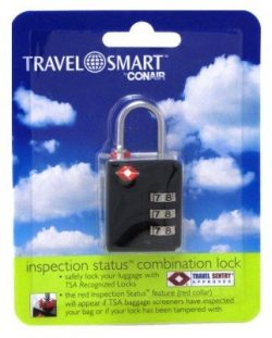 Conair Travel Smart 3-Dial Combination Lock (3 Pack)