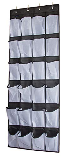 Wisorder Over The Door Shoe Organizer, Clear Hanging Shoe Rack, Fabric Closet Shoe Organizer Sto ...