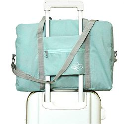 FUNFEL Travel Foldable Duffel Bag for Women & Men, Waterproof Lightweight travel Luggage bag ...