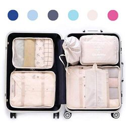 Luggage Organizer, Packing Cubes For Travel With Shoes Bag, Compression Cells, Accessories Bags  ...