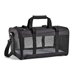 Fit & Fresh Pet Carrier, Soft Sided, Mesh, Travel, Black