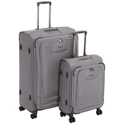AmazonBasics Premium Expandable Softside Spinner Luggage With TSA Lock 2-Piece Set – 21/29 ...
