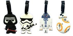 5″ Inspired 4pcs Luggage Tags Charms kylo ren BB8 Stormtrooper R2D2