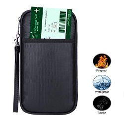 Travel Passport Wallet ,RFID Blocking Family Passport Holder Credit Card Ticket Document Organi ...