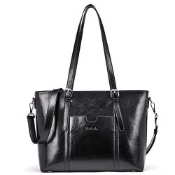 BOSTANTEN Women Leather Laptop Shoulder Handbag Vintage Briefcase 15″ Computer Work Tote B ...