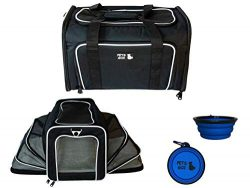 PETS GO2 Pet Carrier for Dogs & Cats | Best Airline-Approved Dog Travel Bag for Pet Safety & ...