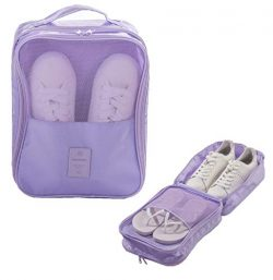 Travel Shoes Bag Portable Travel Accessories -Track&Zone -Two Layers Waterproof Packing Cube ...