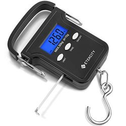 Etekcity Digital Fish Scale 110lb/50kg, Portable Luggage Weight Scale, Electronic Hanging Hook S ...