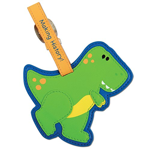 Stephen Joseph Luggage Tag, Dino