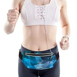 Genideer Running Belt Fashion Waist Pack for Sports Ultra Slim Ultra Light Adjustable Workout Fa ...
