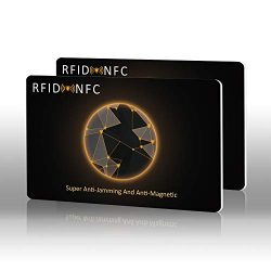 Tabiger 2Pcs RFID/NFC Blocking Cards, Credit Card Protector-Protection for Wallet and Passport