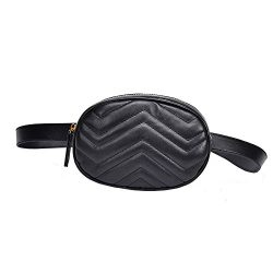 ❤️ Sunbona Pure Colo Waist Packs for women Leather Messenger Shoulder Bag Chest Ba ...