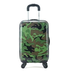 Rockland 20″ Polycarbonate Carry On, Camo
