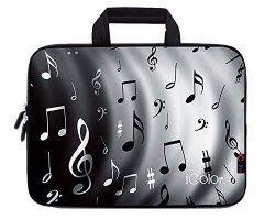 iColor Music Note 17″ 17.3″ 17.4 Inch Neoprene Laptop Carrying Bag Travel Briefcase  ...