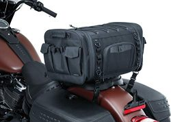 Kuryakyn 5283 Momentum Drifter Motorcycle Travel Luggage: Weather Resistant Roll Bag with Sissy  ...