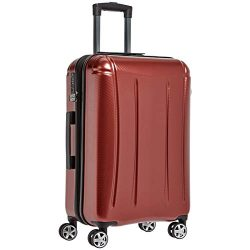AmazonBasics Oxford Luggage Expandable Suitcase with TSA Lock Spinner, 28-Inch, Red
