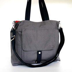 Virine grey shoulder bag, cross body bag, messenger bag, purse, everyday bag, handbag, travel ba ...