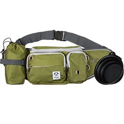 Dog Walk Waist Fanny Pack Treat Pouch with Collapsible Water Bowl and Water Bottle Holder