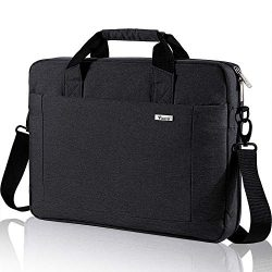 Voova 15.6 inch Laptop Shoulder Bag Expandable Large Capacity Briefcase Adjustable Shoulder Stra ...
